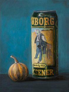 """""""Tuborg"""" / «Туборг» / «Туборг» 12х20 oil, canvas on wood/ олія, полотно на дошці / масло, холст на доске"""