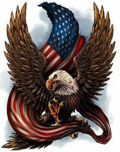United States Bald Eagle with Flag, America Love It or Leave It, Patriotic Art on metal sign, vintage style garage art wall decor The Eagles, American Flag Decal, Eagle American, American Pride, American Freedom, Eagle Drawing, Eagle Tattoos, Wolf Tattoos, Animal Tattoos