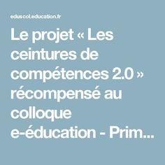 Le projet « Les ceintures de compétences 2.0 » récompensé au colloque e-éducation - Prim à bord