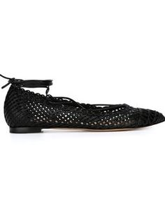 woven ballerinas  $1,342 #Farfetch womensfashion #DesigerClothing