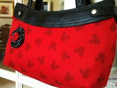 Mickey Mouse Red and Black Purse skirt by ShellyJayneCovers, $12.00