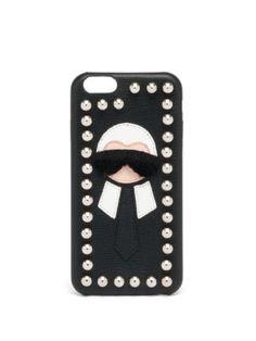 FENDI Karl Fur-Trimmed Iphone 6 Case. #fendi #case
