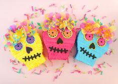 Sugar Skull Pinata DIa de Los Muertos Card Box Day of the   Etsy