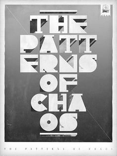 Typography Poster Design by Damien VIGNAUX