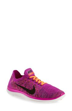 $120 Nike 'Free 4.0 Flyknit' Running Shoe (Women) available at #Nordstrom