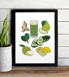Green Juice Art Print