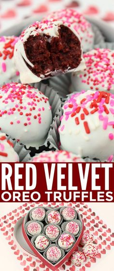 These Red Velvet Oreo Truffles feature a delicious red velvet oreo cheesecake filling enrobed in delicious white chocolate.