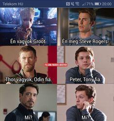 Dankest Memes, Funny Memes, Jokes, Marvel Memes, Marvel Avengers, Funny Drawings, Steve Rogers, Series Movies, Tom Holland