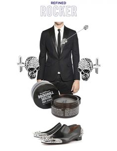 A wedding style board for the refined rocker from Well-Groomed | Offbeat Bride