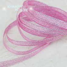 ( 25 yardas / lot ) 1/4 '' ( 6 mm ) poliéster cinta rosa cinta navidad cinta de embalaje de calidad de alto grado cuadrados cintas(China (Mainland))