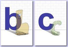 Des affichettes Alphas-lettres, par Dudule