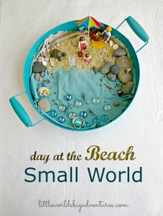 How to Set up a Beach Small World Invitation to Play | Little Worlds