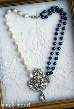 Vintage Rhinestone and Pearl One of a Kind by simplymeart on Etsy, $75.00