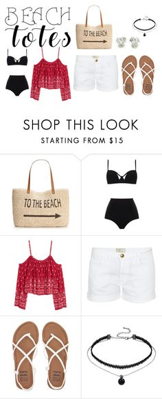 """""""In the Bag: Beach Totes"""" by fashion8-2016 ❤ liked on Polyvore featuring Style & Co., MOEVA, H&M, Current/Elliott, Billabong, Gucci and beachtotes"""