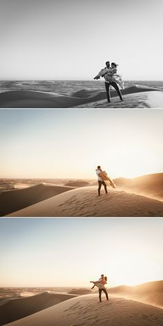 Sand Dunes engagement in Glamis