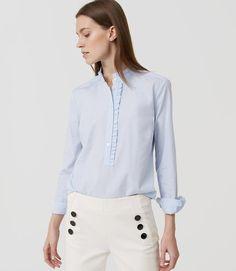 LOFT Ruffle Softened Shirt