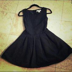 Black and white skater dress Black and white skater dress. Textured pattern. Poly/cotton bland. Sans Souci Dresses