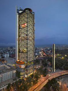 """In der Kategorie """"Bürogebäude"""" ist der BBVA Bancomer Tower in Mexico City..."""