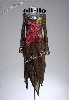 Tulip dress by Junghwa Yoo, crochet, knit