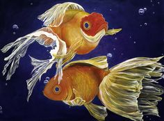 Good Luck Goldfish - Art of Samantha Lockwood