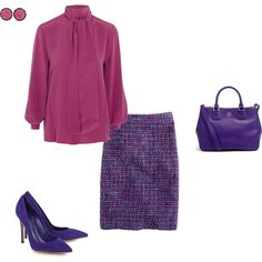 Deep Summer - berry blouse by adriana-cizikova on Polyvore featuring Fendi, J.Crew, Gianvito Rossi, Tory Burch and Kimberly McDonald