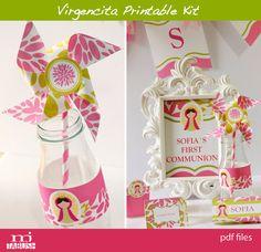 Virgencita printable kit by mjtabush on Etsy