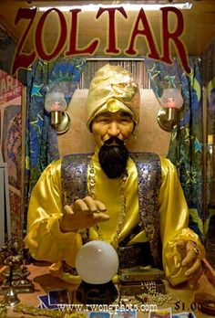 "Divination:  ""Zoltar"" Fortune-Telling Machine."