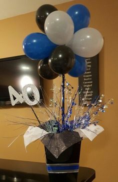 40th Birthday Centerpieces Balloon Parties Topiary
