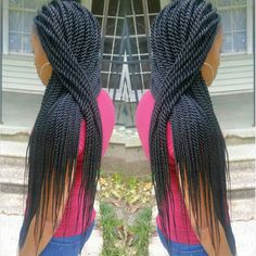 Rope twists- senegalese twists- twists #braidsbyguvia