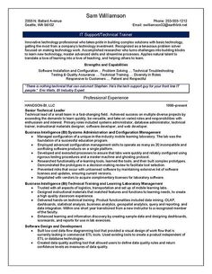 Trainer Resume Example For More And Various Sample Resume Templates Visit Www .