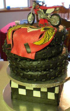 Motocross Birthday Cake Motocross party Pinterest