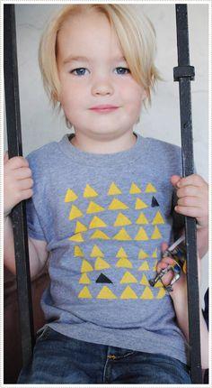 Triangle T-shirt Stencil