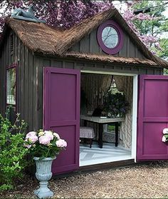 Shed DIY - With a large backyard youll need to store tools to maintain your landscape. Here youll find some garden shed ideas to help keep things organized. Now You Can Build ANY Shed In A Weekend Even If You've Zero Woodworking Experience! Outdoor Spaces, Outdoor Living, Outdoor Office, Outdoor Sheds, Backyard Office, Man Cave And She Shed, Woman Cave, Lady Cave, She Sheds
