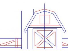 How To Draw A Barn House And Fence Step 3