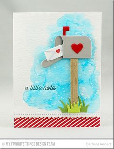 Mailbox Die-namics, Stitched Scallop Basic Edges Die-namics, Love Is in the Mail Stamp Set - Barbara Anders  #mftstamps