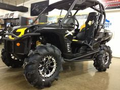 Gloss Black Positive Venoms with Bullet Edge Can Am, Dirtbikes, Atv, Bullet, Monster Trucks, Wheels, Vehicles, Places, Photography