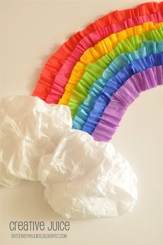 Cute and easy for a bulletin board...streamer rainbow!