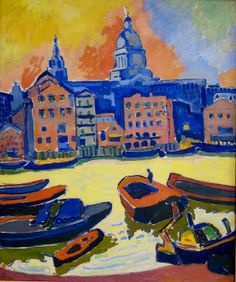 André Derain, St Paul's Cathedral from the Thames, 1906