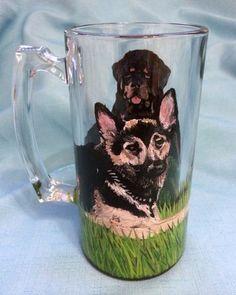 DOUBLE TROUBLE DOG MUG – www.thepaintedflower