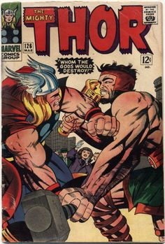 mighty thor covers silver age | 1966 The Mighty Thor #126 Marvel Comics Ungraded Silver Age (MEARS ...