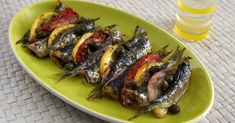 Diane Kochilas Baked Sardines With Ouzo, Capers, and Tomatoes Greek Octopus Recipe, Octopus Recipes, Fish Recipes, Sardine Recipes, Eggplant Dishes, Ceramic Baking Dish, Onion Relish, Greek Cooking, Mediterranean Dishes