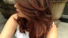 Reinvent your ombré hair color with a rich copper brown shade that will make your complexion glow and your hair look healthy and lustrous. Tone on tone hair color is a major trend this year. Layer Hair, Brown Shades, Ombre Hair Color, Layered Haircuts, Brunettes, Hair Looks, Color Trends, Your Hair, Hair Cuts