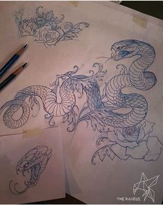 Find your best gift ideas for your family and friends! Japanese Tattoo Art, Japanese Tattoo Designs, Japanese Sleeve Tattoos, Tattoo Sketches, Tattoo Drawings, Body Art Tattoos, Cool Tattoos, Tattoo Snake, Snake Art