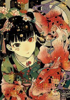 I seriously love this. Kunst Inspo, Art Inspo, Art And Illustration, Anime Art Girl, Manga Art, Anime Girls, Aesthetic Art, Aesthetic Anime, Character Art