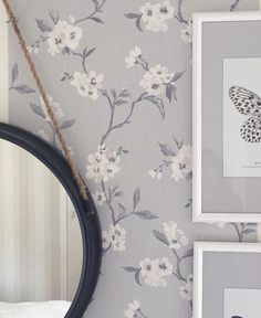 """Our new wallpaper """"Dream"""" from Sense of Silence is already up on the wall! Beautiful repost from @sommarvagen15 🌿🌸"""
