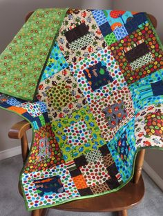 Owls Handmade Baby Quilt Baby Quilted Baby by LunettaQuilts