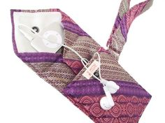 GRANDMA's COUCH Recycled Men's Necktie Wristlet 2-Pocket Gadget Holder