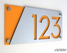 """75mm 3 /"""" Casa Puerta números Cromo Pulido individuales numbers//numeral//letters"""