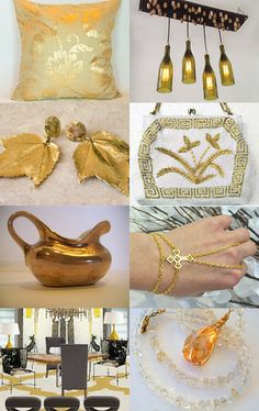 A Golden Touch  by breakitupdesigns on Etsy--Pinned with TreasuryPin.com