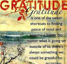Gratitude is the way...